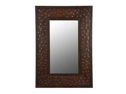 Extra Large Rectangular Hammered Metal Mirror
